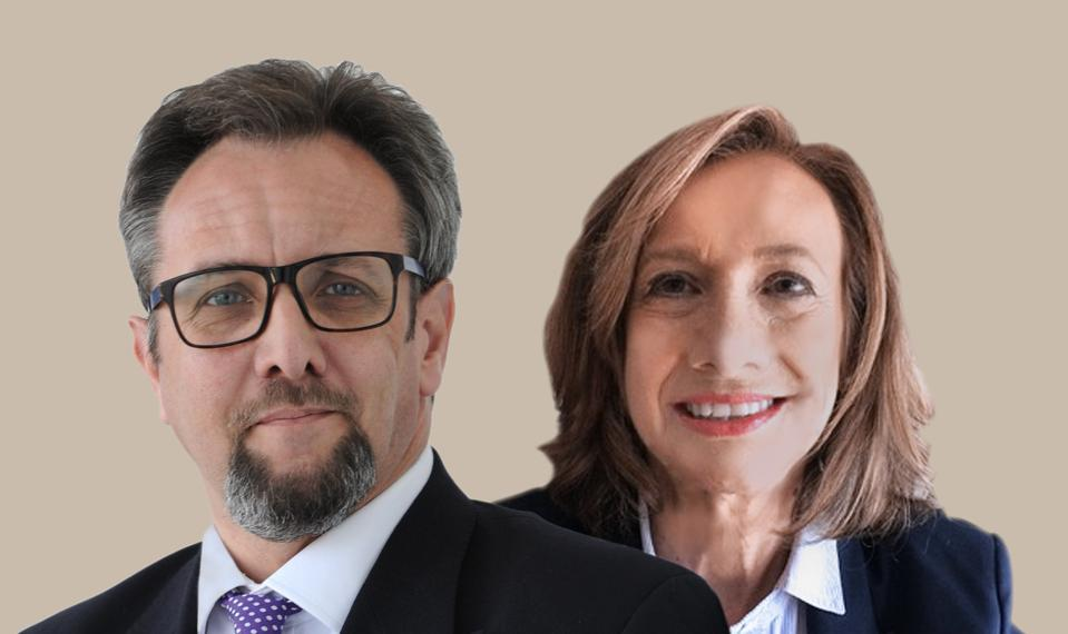 Headshots of Pam Nelson and Al Kingsley